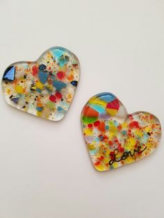 My fused glass hearts. Perfect little gift, token of LOVE