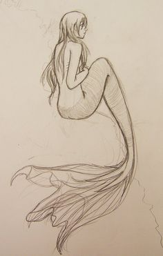 mermaid by on deviantART – I love the f… mermaid von ~ auf deviantART – Ich liebe die Flosse auch hier 🙂 The post Meerjungfrau von ~ auf deviantART – Ich liebe … appeared first on Frisuren Tips - People Drawing Mermaid Sketch, Mermaid Drawings, Mermaid Tattoos, Mermaid Art, Easy Mermaid Drawing, Mermaid Scales, Realistic Mermaid, How To Draw Mermaid, Drawings Of Mermaids