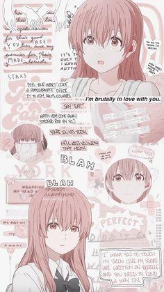 Koe no Katachi Anime Girl Neko, Otaku Anime, Art Anime Fille, Anime Art Girl, Anime Backgrounds Wallpapers, Animes Wallpapers, Cute Wallpapers, Pink Wallpaper Anime, Cartoon Wallpaper