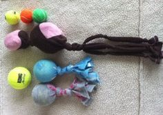 Inexpensive DIY dog toys for doggies in shelters. Great holiday idea! I wish I could take all the lil doggies home with me...