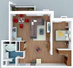 Căn hộ 1 phòng ngủ Vincity