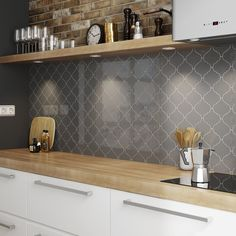 Crown Tiles 12x12 Alhambra Dk Grey Wall Tile Kitchen
