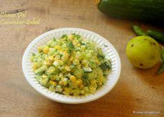 Chana Lentil and Cucumber Salad | Kadale Bele Kosambari - Udupi Recipes