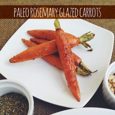 Rosemary/celery seed glazed carrot recipe. These are delicious. Probably my favorite treatment of cooked carrots.