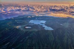 Vulcão das Sete Cidades (vista aérea)