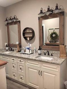 Master bedroom bathroom, home decor и bathroom cabinets. Bathroom Mirror Inspiration, Mirror Ideas, Vanity Ideas, Master Bedroom Bathroom, Bath Room, Cozy Bathroom, Bathroom Bin, Mosaic Bathroom, Bathroom Showers