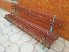 Como reformar um antigo banco de jardim. http://oficinadoquintal.blogspot.com.br/2014/05/como-reformar-um-banco-de-jardim-antigo.html