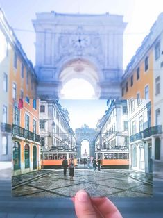 Augusta Rue Arch in the city center of Lisbon, Portugal. Watching the sun rise here is one of the best things to do in Lisbon, Portugal Portugal Vacation, Portugal Travel, Spain And Portugal, Lisbon Portugal, Portugal Trip, Places To Travel, Places To Visit, Portugal Holidays, Barcelona Travel