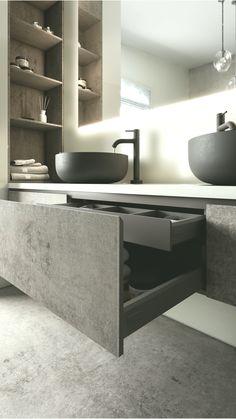 Awesome Black Floor Tiles Design Ideas For Modern Bathroom « Interior House Colors, Home Interior Design, Interior Livingroom, Apartment Interior, Interior Ideas, Bathroom Design Luxury, Modern Bathroom, Cheap Dorm Decor, Home Decor Signs