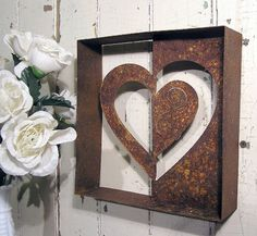 Heart metal wall art