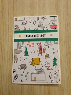 Stampin' Up pieces and Patterns and pick a pattern birthday card