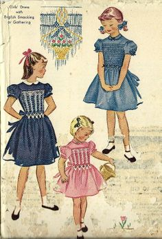 Vintage McCalls 1953 Girls Dress Pattern with by TheIDconnection, $25.00