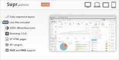 Supr - Responsive Dashboard Admin Template - Admin Templates Site Templates