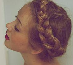 milkmaid braid. love itttt