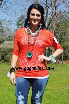 Seconds SALE  Rust Animal Print Simple Tunic $5.00 Small-Large www.gugonline.com