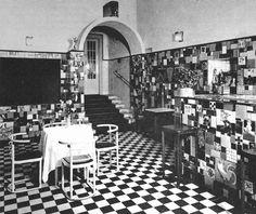 The Bar of the Cabaret Fledermaus by Josef Hoffmann, Vienna, Austria, 1907
