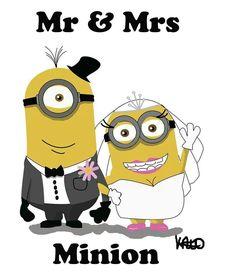 Wed minions Amor Minions, Cute Minions, Minions Despicable Me, Minions Quotes, Evil Minions, Image Minions, Minions Images, Funny Minion Pictures, Funny Pics