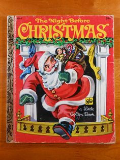 Vintage The Night Before Christmas Little Golden by RetroPhoenix, $5.00* Merry Xmas to all Pinterest friends my Xmas gift to you 1500 free paper dolls at The International Paper Doll Society also gift of free paper dolls at The China Adventures of Arielle Gabriel *