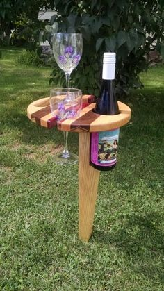 Outdoor Wine Caddy - Woodworking creation by AnthonyG