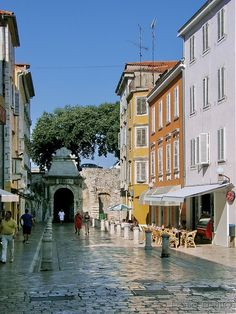 Zadar, Croatia. Love that the streets have been walked over for so many years that they appear to be polished.