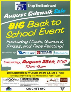 Southern Boulevard BID August Sidewalk Sale 2012 Promo Flyer (eng)