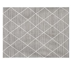 Jute Lattice Rug ~ Pottery Barn ~Gray or flax with ivory. Many sizes including 3' x 5' and 9' x 12'. $159-$699.