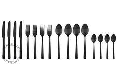 black cutlery - 16 pieces  / www.zangra.com