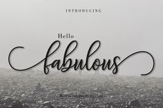 Fabulous script come with glyphs. The alternative characters were divided into several Open Type features such as Swash, Stylistic Sets, Stylistic Script Logo, Script Type, Handwritten Fonts, Calligraphy Fonts, Typography Fonts, Modern Calligraphy, Calligraphy Alphabet, Font Design, Web Design
