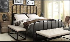Diamond Mateo California King BedFinish: Textured MetalColor: Rust BrownDimensions: 75 x 89 x 61
