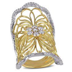 Miadora Signature Collection 18k Yellow Gold 1 1/8ct TDW Diamond Ring