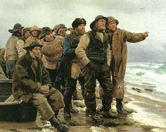 Michael Peter Ancher (1849-1927): vil han klare pynten, 1879