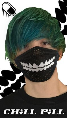 Your place to buy and sell all things handmade Goth Rave, Halloween Rave, Smile Design, Smile Teeth, Electric Daisy Carnival, Kawaii Cosplay, Masks Art, Cybergoth, Diy Mask