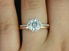 Cushion cut ring at an angle