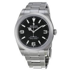 Rolex Explorer Stainless Steel Black Dial Watch 214270