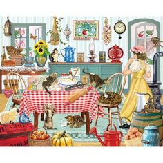 Bits and Pieces - 300 Large Piece Jigsaw Puzzle for Adults - Kittens in the Kitc #BitsandPieces