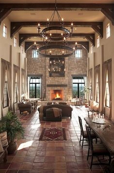 Fire Place In Open Living Room