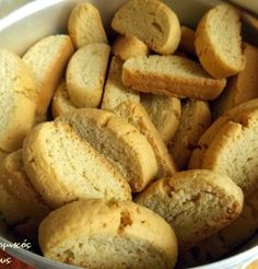 Greek Desserts, Greek Recipes, Greek Cookies, Cooking Recipes, Healthy Recipes, Biscuit Cookies, Biscotti, Deserts, Food And Drink
