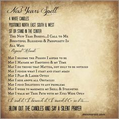 New Year's Spell
