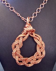 Woven and Braided Copper Wire Pendant.