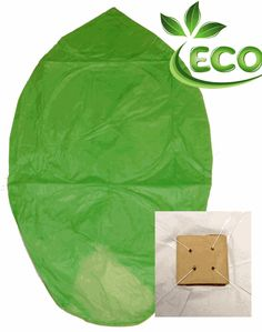Wire-free Eclipse Green Flying Sky (Floating) Lantern/Kongming Light  Made of fire resistant paper  No metal wire  Fuel cell is included  Width: 22 Inches  Height: 32 Inches  100% biodegradable