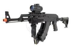 CYMA MOD-4 AK47 CAW RIS Airsoft AEG Rifle w/ Scope and Auto-Wind Mag