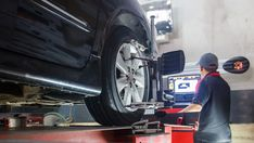 Wondering what are the signs of a bad wheel alignment? Schedule a car alignment service at car shop to prevent further damage such as brakes and suspension. Wheel Alignment And Balancing, Wheel Alignment Service, Front Wheel Alignment, Car Alignment, Wheels And Tires, Car Wheels, Caravan Repairs, Wheel Fire Pit, Art Deco Car