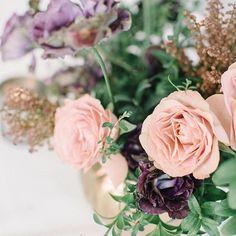Mila Adams Peach and Purple Bouquet Arrangements. Kentucky & Destination Utah Wedding Florist