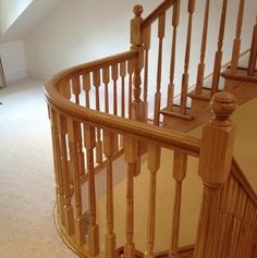 This Ash staircase looks stunning, another beautiful finish.