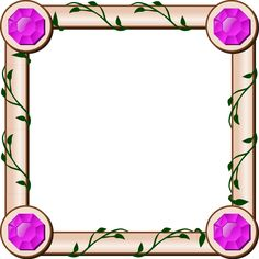 RPG map ivy border by nicubunu - Role playing game complete square with jewels on four corners.