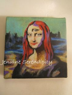 3x3 inch acrylic canvas original painting by jenuineserendipity, $58.00