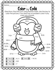 Winter Math and Literacy Printables-No Prep! First Grade Science, First Grade Writing, First Grade Activities, Teaching First Grade, Subtraction Activities, Phonics Activities, Motor Activities, Winter Activities, Centers First Grade