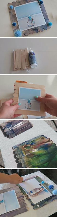 Popsicle Frame | 25+ DIY Christmas Gifts for Dads & Grandfathers