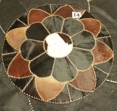 AFRICAN FLOWER design Rug Leather Hide Patchwork Area Carpet taxidermy Egyptian