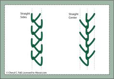 Every Embroidery Stitch You'll Ever Need: Feather Stitch - Straight Variations